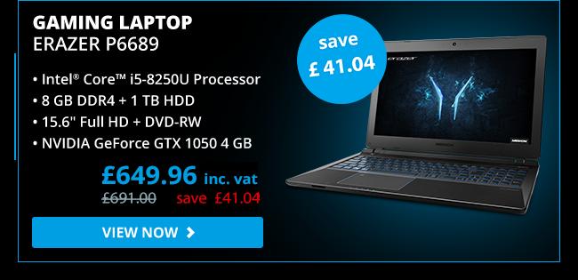 ERAZER P6689 Intel i5 GTX 1050 Gaming Laptop