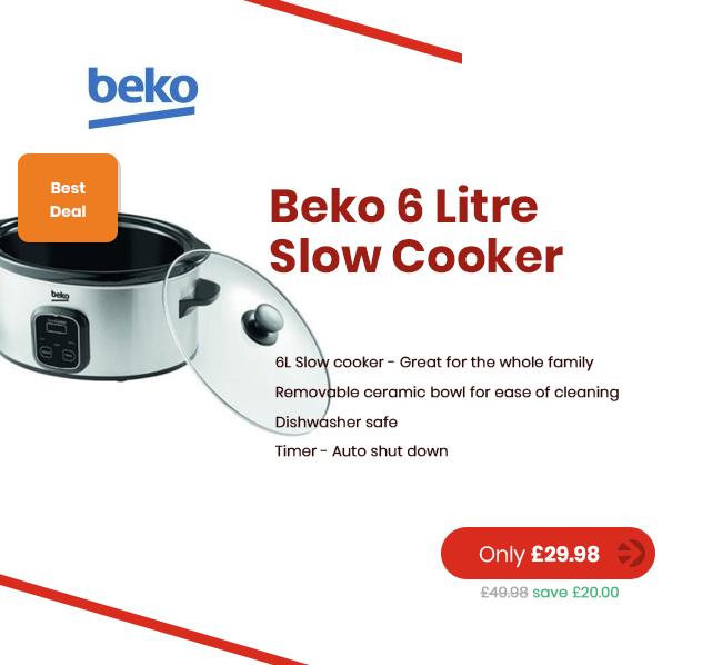 Beko SCM3622X 6 Litre Slow Cooker