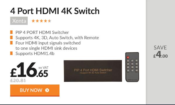 Xenta 4 Port HDMI 4K Switch