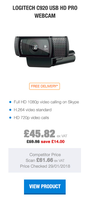 Logitech C920 USB HD Pro Webcam