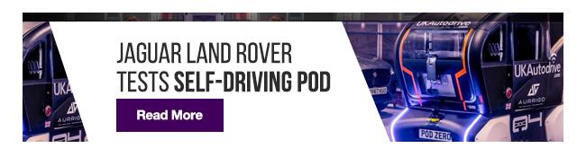 Jaguar Land Rover tests self-driving pod