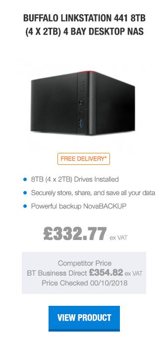 Buffalo LinkStation 441 8TB (4 x 2TB) 4 Bay Desktop NAS