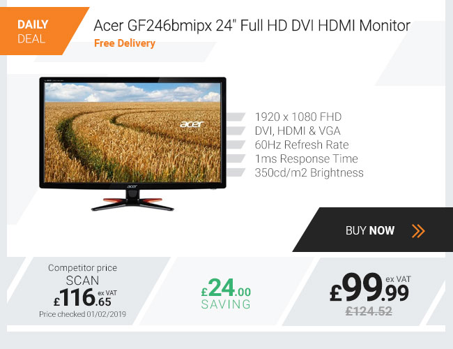 Acer GF246bmipx 24in Full HD Wide Monitor