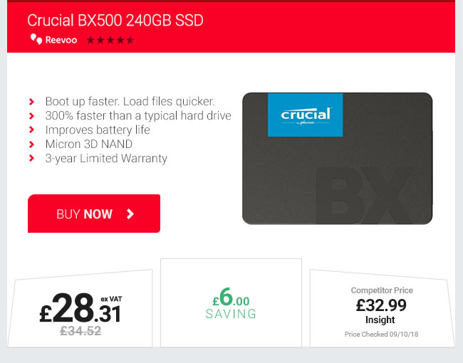 Crucial BX489 240GB SSD