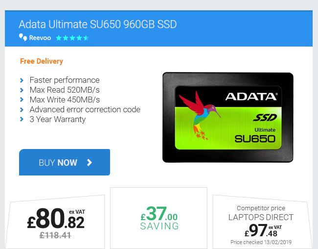 Adata Ultimate SU650 960GB SSD