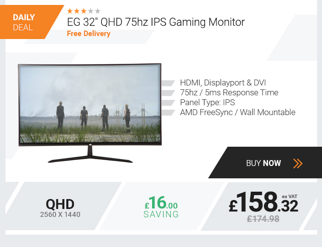 EG 32in QHD 75hz IPS Gaming Monitor