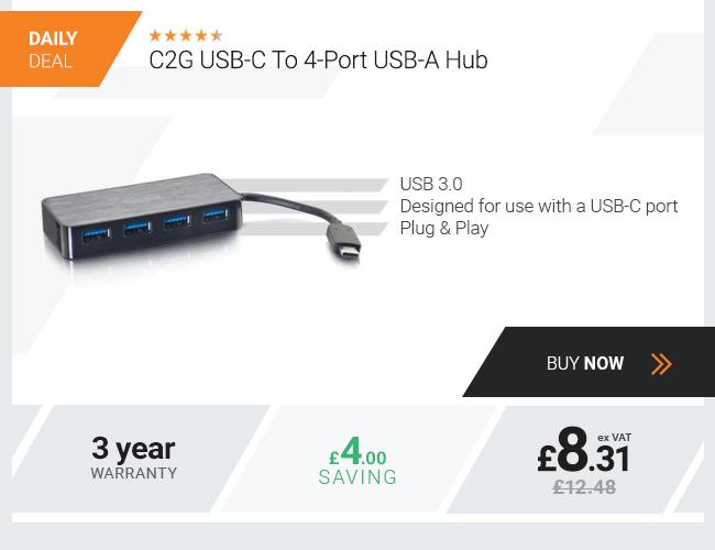 C2G USB-C To 4-Port USB-A Hub