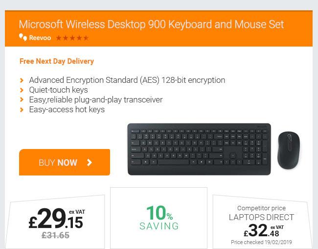 Microsoft Wireless Desktop 900 Keyboard and Mouse Set