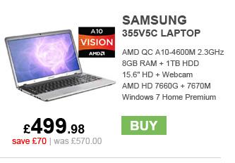 Samsung 355V5C Laptop - £499.98