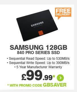 Samsung 128GB 840 Pro Series SSD - £89.99*