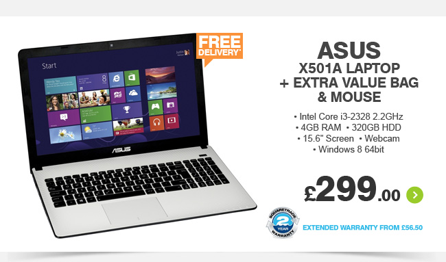 Asus X501A Laptop - £299.00
