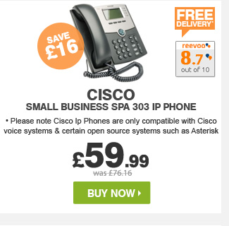 Cisco Small Business SPA 303 IP Phone - £59.99