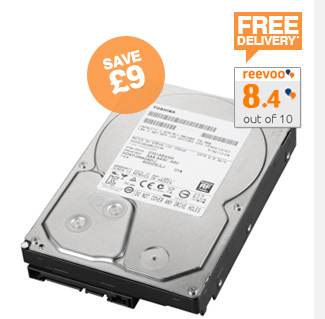 Toshiba 3TB Internal Hard Drive - £85.00