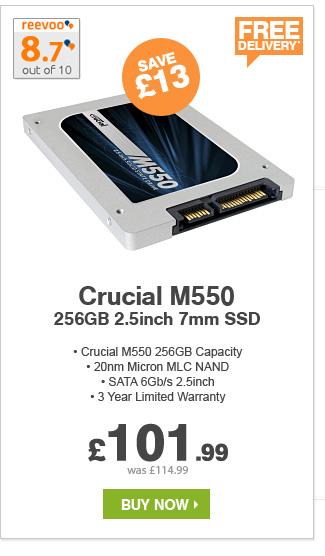Crucial 256GB SATAIII SSD - £101.99