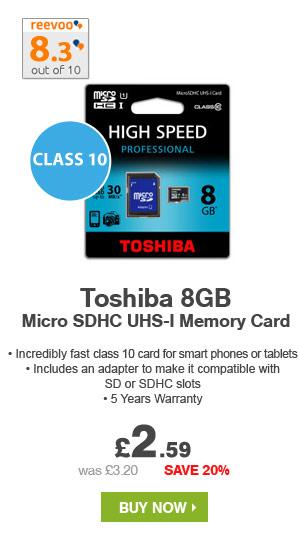 8GB Toshiba Micro SDHC UHS-I Memory Card