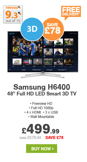 Samsung 48in Full HD LED Smart 3D TV