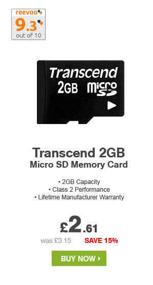 Transcend 2GB MicroSD Memory Card