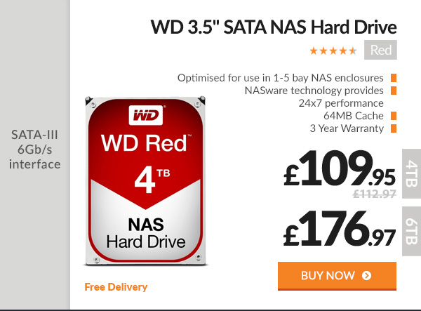 WD Red 3.5in SATA NAS Hard Drive
