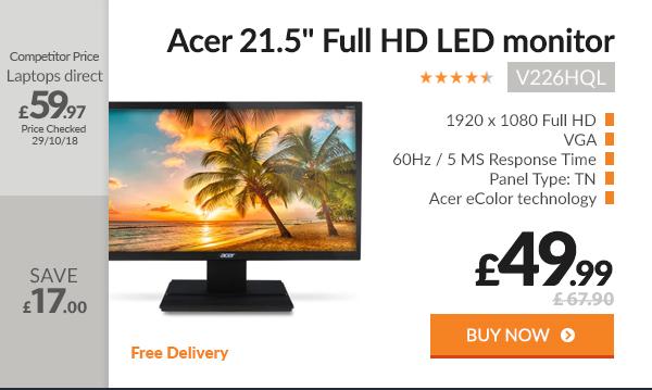 Acer V226HQL 21.5in Full HD LED monitor