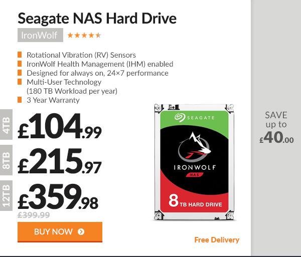 Seagate IronWolf NAS Hard Drive SATA III