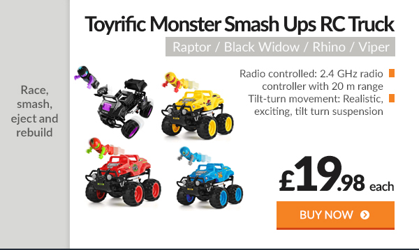 Toyrific Monster Smash Ups Remote Control Race RC Truck