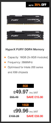 HyperX 2666MHz DDR4 CL16 DIMM 1Rx8 Memory