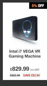 Intel Hades Canyon i7 VEGA VR Gaming Machine + £100 Greenman Gaming Voucher