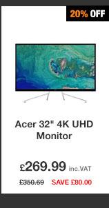 Acer ET322QKwmiipx 32in 4K UHD Monitor