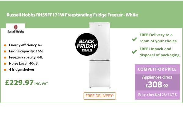 Russell Hobbs RH55FF171W Freestanding Fridge Freezer - White