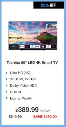 Toshiba 55in LED 4K Smart TV