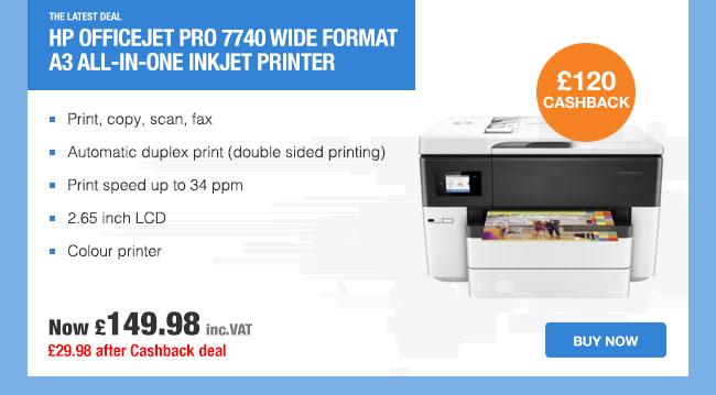 HP officejet pro 7740 Multi-function A3 wireless inkjet printer