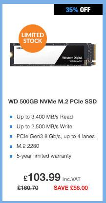 WD Black 500GB M.2 PCIE Gen3