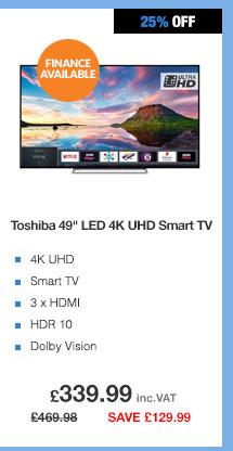 Toshiba 49U5863DB 49in LED 4K UltraHD Smart TV