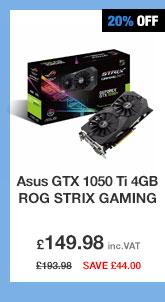 Asus GTX 1050 Ti 4GB ROG STRIX GAMING Graphics Card