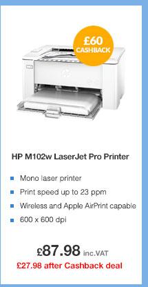 HP M102w Wireless Mono Laser Printer