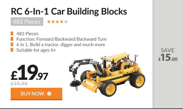 RC 6-In-1 Car Building Blocks