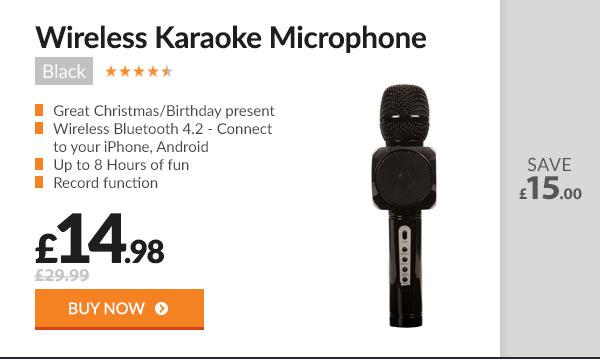 Karaoke Microphone Black