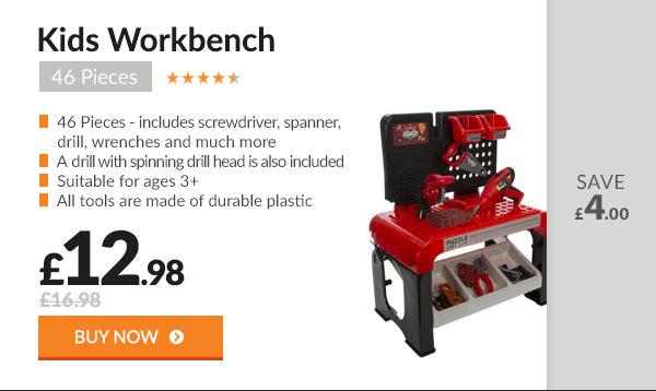 Kids Workbench 46 Pieces