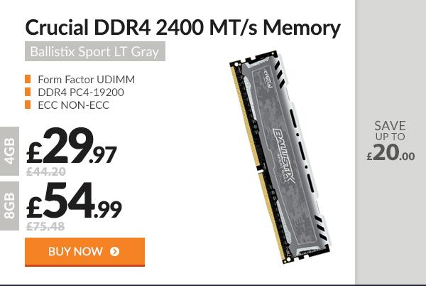 Crucial Ballistix DIMM 288pin Memory