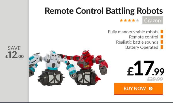 Crazon Remote Control Battling Robots - 2 Robots