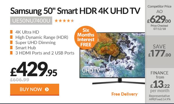 Samsung UE50NU7400U 50in Smart HDR 4K UHD TV