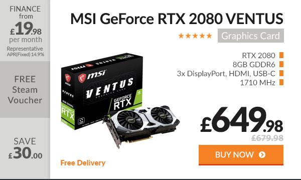 MSI GeForce RTX 2080 VENTUS 8GB Graphics Card