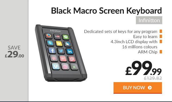 Infinitton Black Macro Screen Keyboard