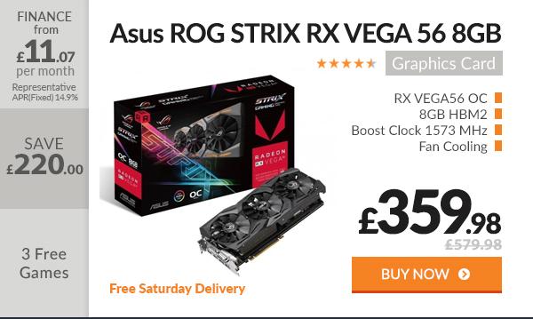 Asus ROG STRIX RX VEGA 56 8GB OC HBM2 Graphics Card