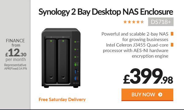 Synology DS718+ 2 Bay Desktop NAS Enclosure
