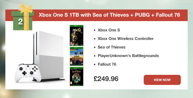 Xbox One S 1TB with Sea of Thieves + PUBG + Fallout 76
