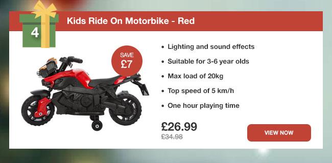 Kids Ride On Motorbike - Red