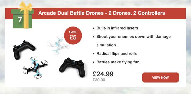Arcade Dual Battle Drones - 2 Drones, 2 Controllers