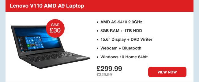 Lenovo V110 AMD A9 Laptop