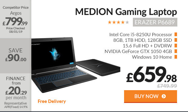 MEDION ERAZER P6689 Gaming Laptop